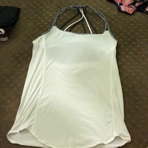 Lululemon 2in1 tank white and black 8